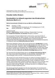 Pressemitteilung 1/2008 - Kinderschutz-Zentrum Berlin