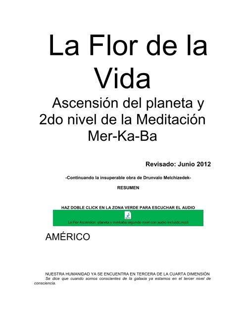 La Flor ascension del planeta med merkaba 2do nivel