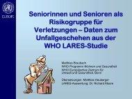 Seniorinnen und Senioren als Risikogruppe für Verletzungen ...