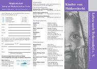 Flyer 2008 - Kinder von Shitkowitschi