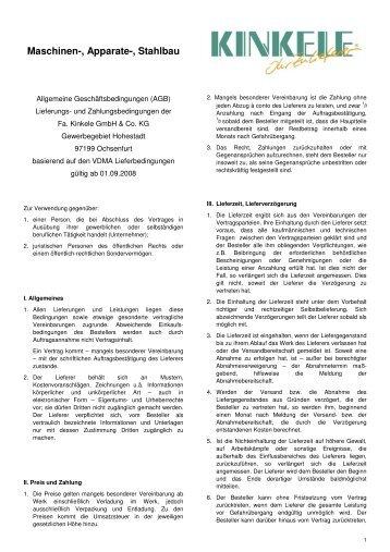 Lieferbedingungen_Kinkele.pdf - Kinkele GmbH & Co. KG