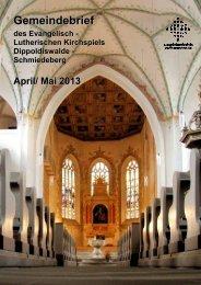 Der Gemeindebrief von April und Mai 2013 - Ev.