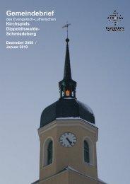 Gemeindebrief Dezember 2009/ Januar 2010 - Ev.