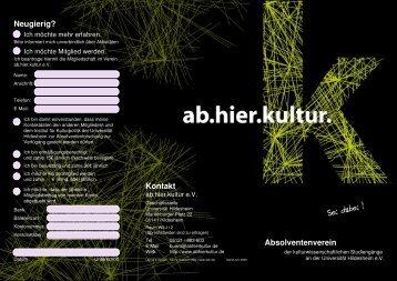 Kontakt - Ab.hier.kultur