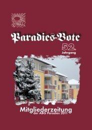 Mitgliederzeitung - Arbeiter-Baugenossenschaft Paradies eg