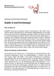 Erstinformation: Dublin II und Kirchenasyl - Oekumenische ...