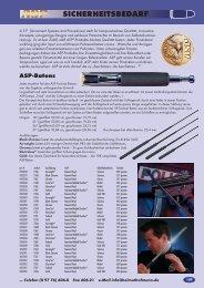 Sicherheitsbedarf - ACP-Waffen