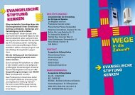 Das Faltblatt zur Stiftung - Kirchenkreis Kleve