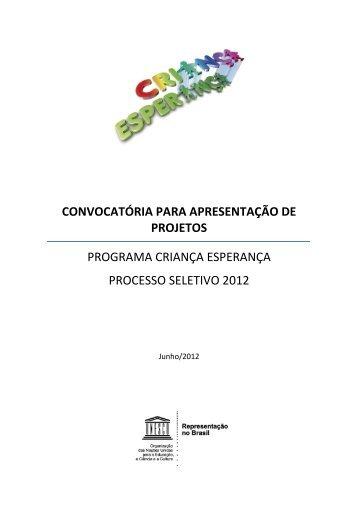 convocatória para apresentação de projetos programa ... - Globo
