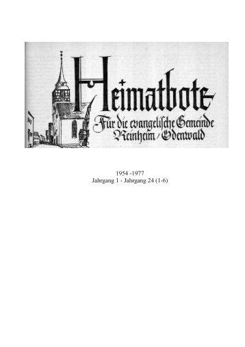 des Heimatboten der ev. Gemeinde 1949 - Evangelische Kirche ...