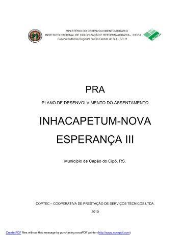 pra pe inhacapetum-nova esperança iii - Coptec