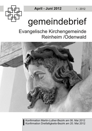 Gemeindebrief Ostern 2012 - Evangelische Kirche Reinheim