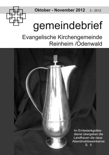 gemeindebrief - Evangelische Kirche Reinheim