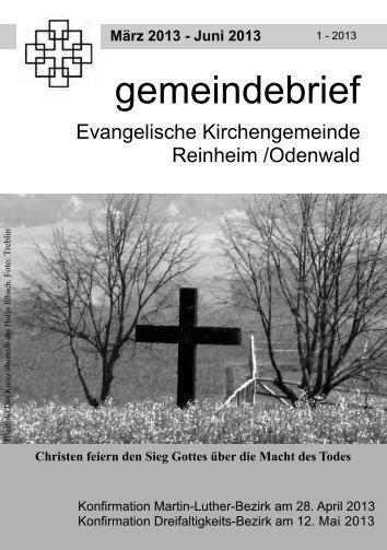 gemeindebrief - Evangelische Kirchengemeinde Reinheim
