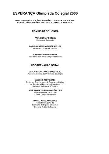 ESPERANÇA Olimpíada Colegial 2000 - Ministério do Esporte