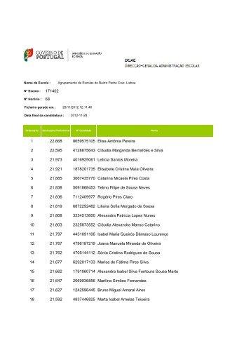 H68 GR230 - Agrupamento de Escolas do Bairro Padre Cruz