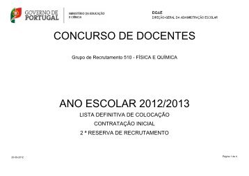 CONCURSO DE DOCENTES ANO ESCOLAR ... - Dgrhe.min-edu.pt