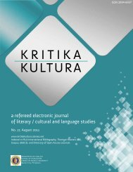 Download the issue - Kritika Kultura