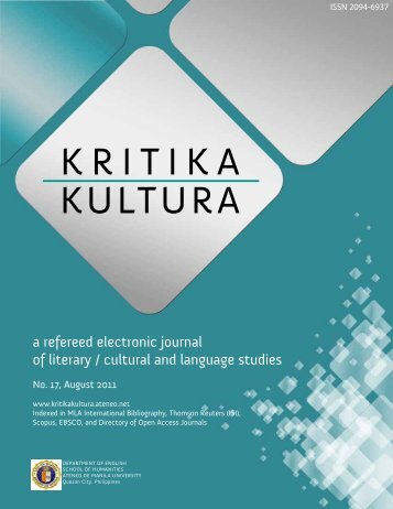 Download the issue - Kritika Kultura