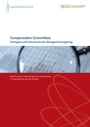 Compensation Committees - Kirchhoff Consult AG