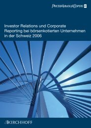 Investor Relations und Corporate Reporting 2006 - PwC