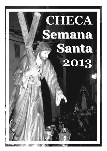CHECA Semana Santa 2013 / Saludo del Párroco, Horarios y Avisos