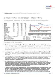 United Power Technology Initiated with Buy - Kirchhoff Consult AG