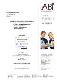 Deutschkurse in Deutschland - Aktion Bildungsinformation ev