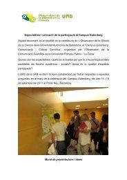 Murals Participatius: Conclusions - Observatori de la Comunicació ...
