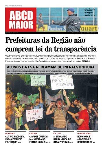 14/03/2013 - Ano 07 - Nº 548 - ABCD Maior