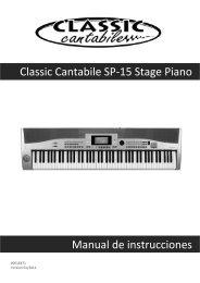 Classic Cantabile SP-15 Stage Piano Manual de instrucciones