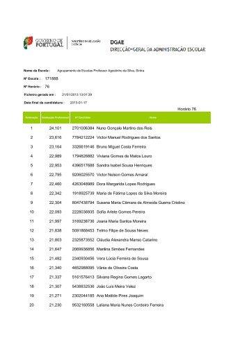 21.Jan - Lista Ordenada pela aplicação da DGAE - Agrupamento de ...