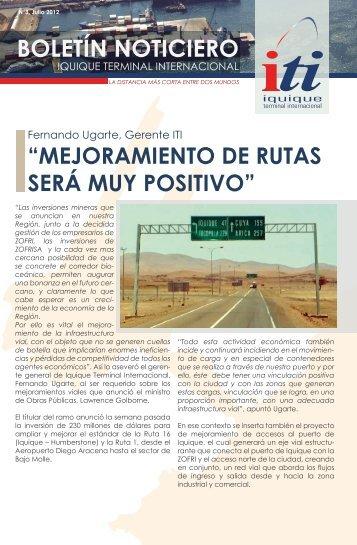 Boletín Comercial ITI S.A. N° 3 - Julio 2012 - Iquique Terminal ...