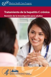 Tratamiento de la hepatitis C crónica - AHRQ Effective Health Care ...
