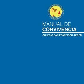 MANUAL DE CONVIVENCIA - Colegio San Francisco Javier