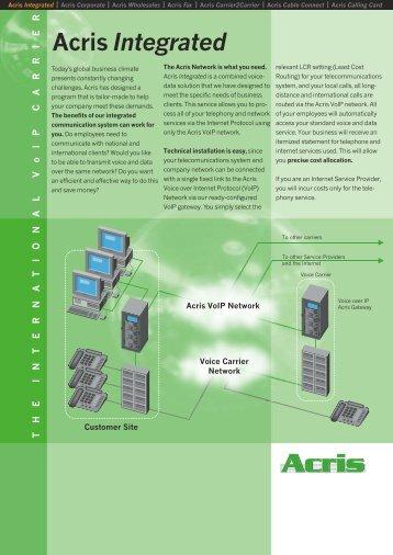 #4254 Produktblatt ACRIS Integrated ex.cdr - ACRIS Telecom GmbH