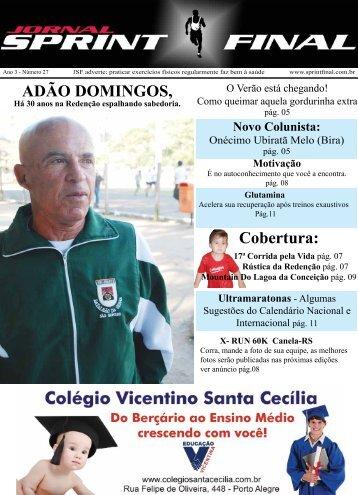 Cobertura: ADÃO DOMINGOS, - Jornal Sprint Final