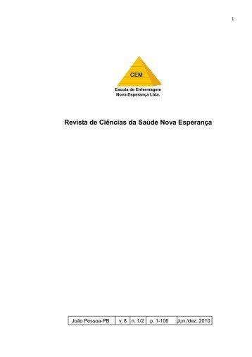 Revista de Ciências da Saúde Nova Esperança - Facene/Famene
