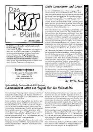 - Blättle Das - KISS Stuttgart