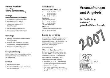 Veranstaltungen und Angebote - KISS Stuttgart