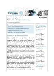 Seminar-Newsletter März 2013 - Management-Institut Dr. A. Kitzmann