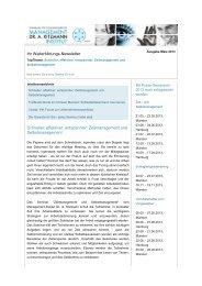 Seminar-Newsletter April 2013 - Management-Institut Dr. A. Kitzmann