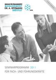 Jahresprogramm 2011 - Management-Institut Dr. A. Kitzmann