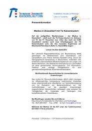 TU auf der Messe MEDICA 2007 in Düsseldorf - Die KIT ist...