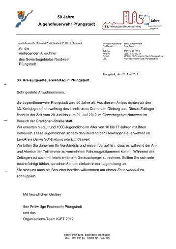 Anschreiben Anwohner - Kreisjugendfeuerwehr Darmstadt Dieburg