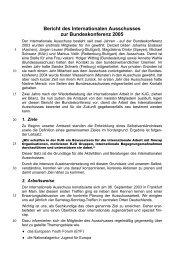 Bericht des Internationalen Ausschusses zur Bundeskonferenz ... - KjG