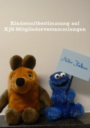 Kindermitbestimmung auf KjG-Mitgliederversammlungen