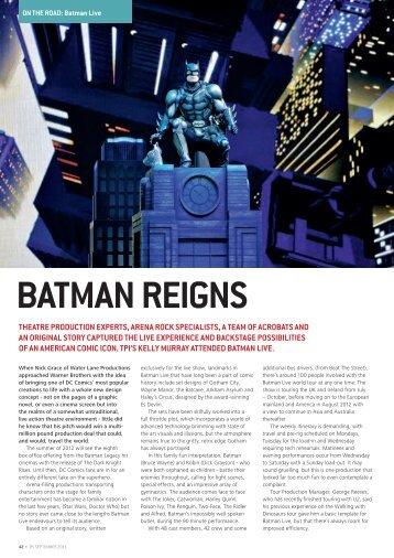 BATMAN REIGNS - DiGiCo
