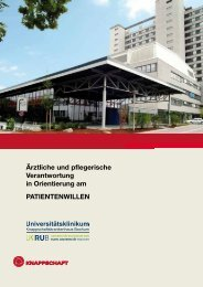 Patientenverfügung - Knappschaftskrankenhaus Bochum