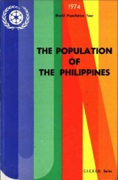 THE POPULATION OF THE PHILIPPINES - CICRED